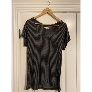 Madewell short sleeve striped shirt